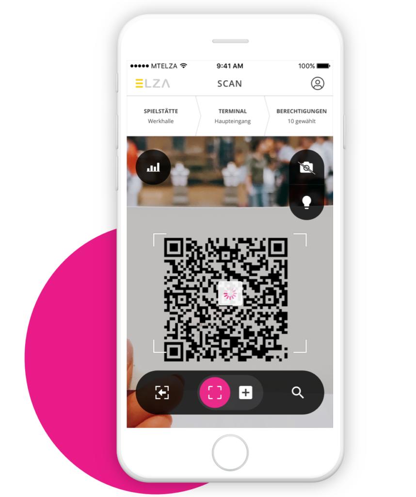 Scan Modus innerhalb der ELZA App