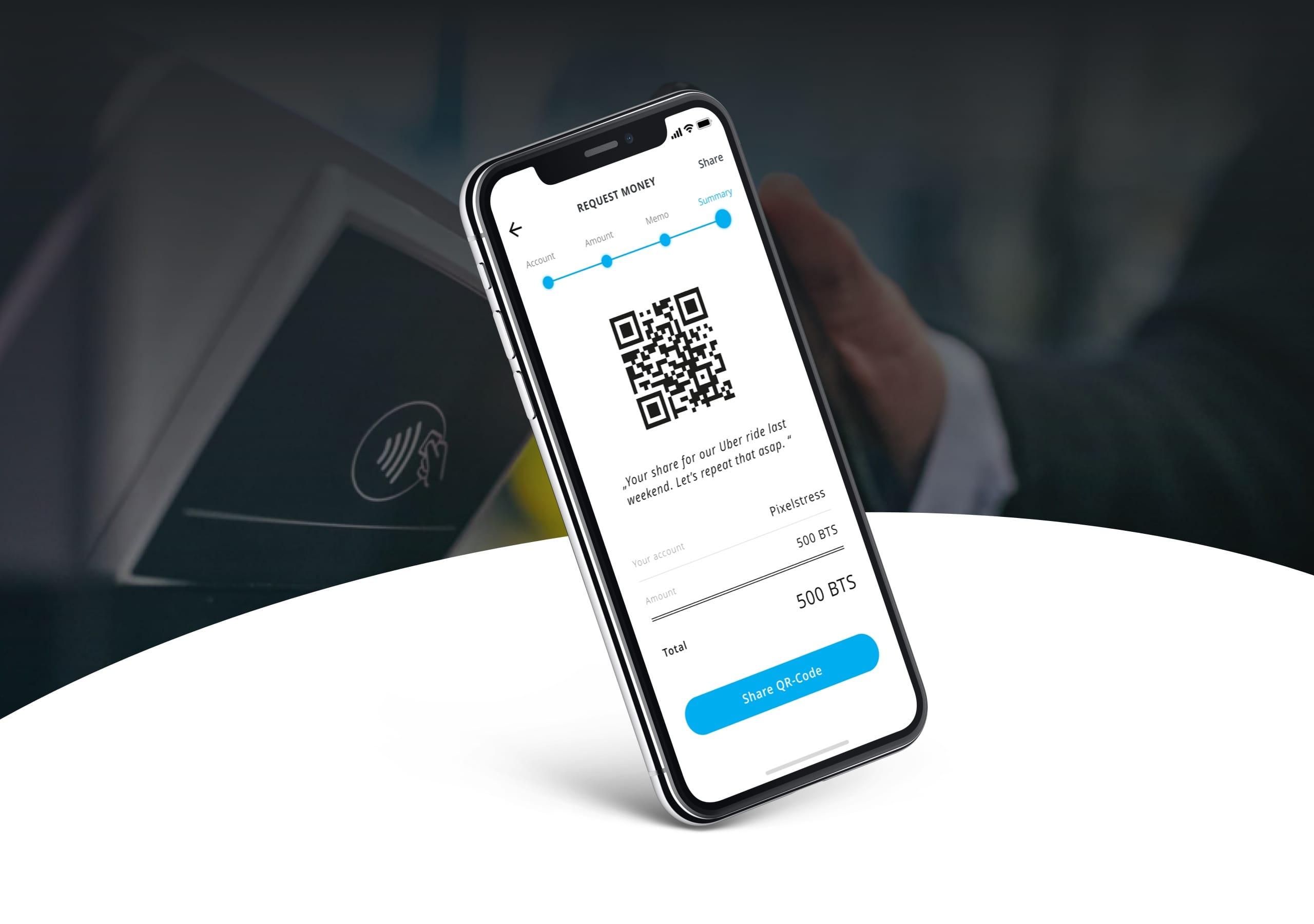 BitShares App auf Smartphone